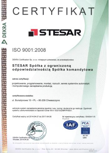 ISO 9001 certyfikat PL